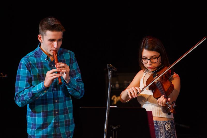 flute,violon